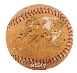 Babe Ruth Et Gary Cooper 1942 Signed Lou Gehrig Pride Of The Cast Yankees Balle
