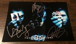Batman The Dark Knight Cast Signé Dédicacé 8x12 Photo Heath Ledger Bale Coa