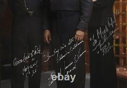 Battlestar Galactica Cast Edward James Olmos + Autographe Signé 11x14 Photo Jsa