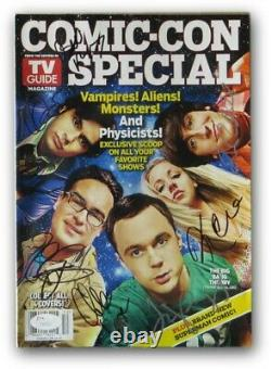 Big Bang Theory Cast Autographed Comic Con Magazine Parsons Cuoco Lorre 7 Jsa