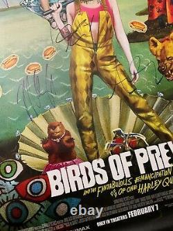 Birds Of Prey Ds Movie Poster Cast Signé Première Harley Quinn Batman DC Comics