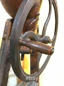 Broyeur De Pommes Vintage / Presse À Vin De Cidre, Fonte, Montgomery Ward, Base En Bois