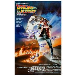 C'est Michael J. Fox, Lloyd, Cast Autographié Retour À L'avenir 27x39 Poster
