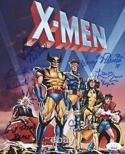 Cal Dodd Cast X6 Signé X-men Animated Series 8x10 Photo Autographe Jsa Coa