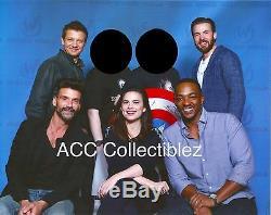 Captain America Evans Jeté Renner Etc Signé Grand Bouclier Métallique Exact Coa Proof