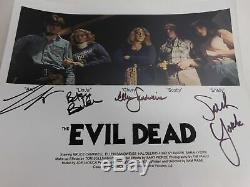Cast A Signé Le Evil Dead Classique De Film D'horreur Photo Bruce Campbell Autograph