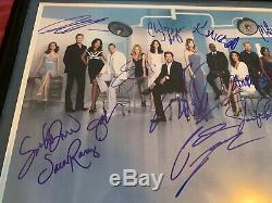 Cast Anatomy Gris Signé Autograph Photo Affiche Encadrée Patrick Dempsey Rare