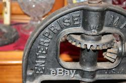 Cast Antique De Fer L'entreprise Mfg. Co. Saucisse Stuffer Fruit Pressoir Grand