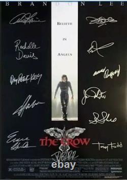 Cast Crow Signé Affiche Du Film