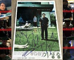 Cast Parasite X7 Autographe Signé 12x18 Photo Bong Joon Ho +6 Avec Profexact