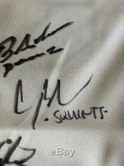 Cast Sandlot Film Autographié / Signé Jersey Jsa Coa Baseball