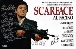 Cast Scarface Autographié 11x17 Affiche Du Film Photo Al Pacino Beckett Bas 2