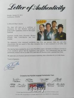 Cast Seinfeld (4) Signé Authentique Autographié 24x36 Poster Psa / Dna # X02494