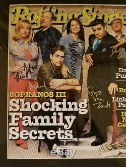 Cast Sopranos Signé 12x19 Magazine Rolling Pierre Couverture Très Rare