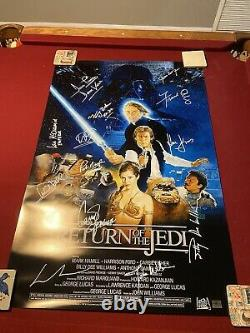 Casting Signé Star Wars Movie Poster Return Of The Jedi Poster! Mark Hamill ++