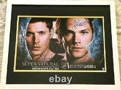 Casting Surnaturel Signé 2012 Sdcc Affiche Jensen Ackles Jared Padalecki Encadré
