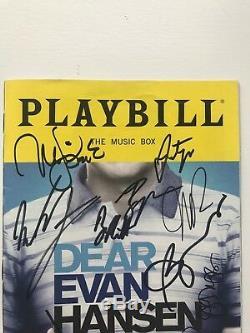 Cher Evan Hansen Obc Playbill Signé Par Complet Obc Acteurs Et Tres Rare Creative
