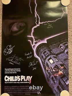 Child's Play - Signé Par Chucky (brad Dourif) Et Fonte - Affiche 27 X 40