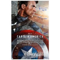 Chris Evans Et Cast Autographié Captain America Originale 27x40 Affiche Du Film