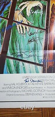Creepshow Affiche De Théâtre Originale Signée Par Cast Avec 13 Signatures Autographiées