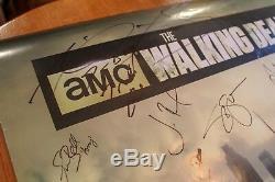 Dédicacées The Cast Walking Dead Affiche Signée 24x36-20 + Authentique Signatures