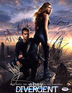 Divergent Cast Multi Signé 11x14 Photo +10 Lettre Complète Psa/adn Autographié