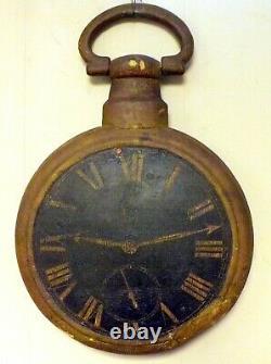 Early 19th Century Montre Fusee Horloge Réparation De Bijoux Panneaux Commerciaux Bois Et Fonte De Fer