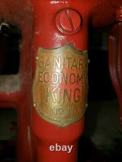Économie Sanitaire Roi #11 Séparateur De Crème Cast Fer Tin Main En Métal Cran Antique