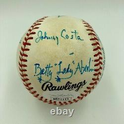 Extraordinaire Fred Rogers & M. Rogers Quartier Signé Baseball Jsa Coa