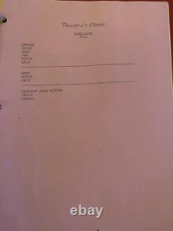 Extrêmement Rare Authentifié Dawsons Creek Script Signé Par La Distribution Complète
