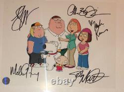 Famille Guy Production Cel Signé Par 5 Cast Memebers Macfarlane, Kunis, Green Etc
