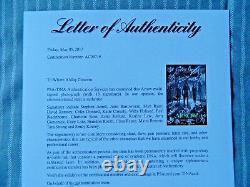 Flèche Cast Affiche Signée 11 X 17 Stephen Amell Willa Holland (psa / Adn Ac09719)