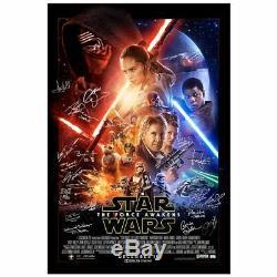 Ford, Hamill Star Wars La Awakens Force Cast Autographié Originale 27x40 Poster