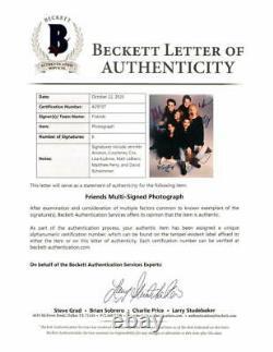 Friends Full Cast Signed Autograph 8x10 Photo Courtney Cox, Jennifer Aniston +