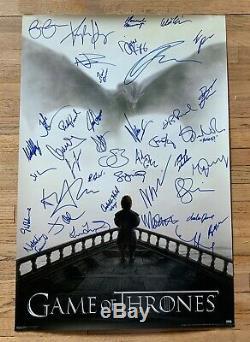 Game Of Thrones Cast Signé Dédicacé 36x24 Affiche Kit Harington Dinklage