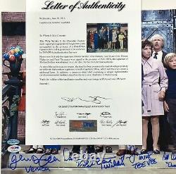 Gene Wilder + 5 Willy Wonka Kids Casting Signé 12x17 Photo Psa/adn Témoin Coa Loa