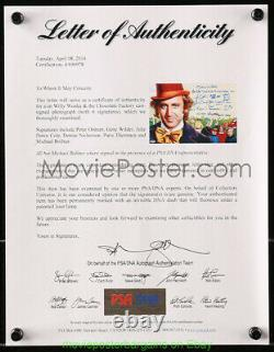 Gene Wilder Autographié 12x17 Photo Et Wonka And The Willy Chocolate Factory Cast