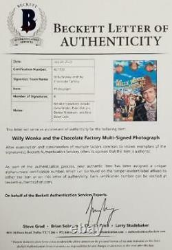 Gene Wilder + Willy Wonka 8 Autos Casting Signé 12x17 Photo Beckett Bas Loa Coa