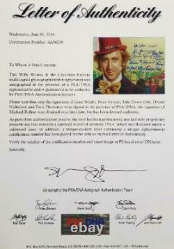 Gene Wilder + Willy Wonka Kids Autographe Cast Signé 8x10 Photo Psa/adn Coa Loa