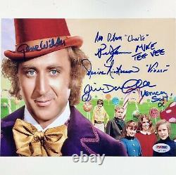 Gene Wilder + Willy Wonka Kids Casting Autographe Signé 8x10 Photo Psa / Dna Coa Loa