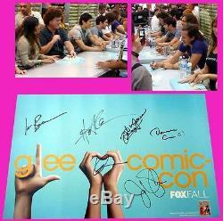 Glee 2011 Cast Fox Affiche Signée Criss Darren Jenna Ushkowitz Harry Shum Jr