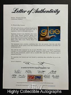 Glee Cast 15 Signé 11x14 Autograph Psa Dna Photo Coa Loa Cory Monteith