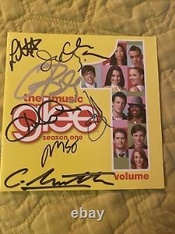 Glee Cast Signé CD Insert (cory Monteith, Lea Michele, Et Plus)