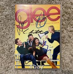 Glee Cast Signé DVD Lea Michele Cory Monteith Dianna Agron Jenna Ushkowitz