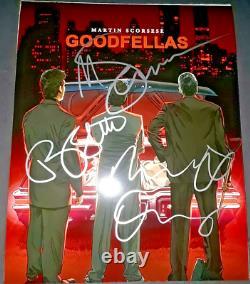 Goodfellas Cast Signed By 3 Custom 8x10 Photo Deniro Scorsese Liotta Proof Pics