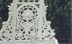 Gothique Antique Cast Iron Hall Umbrella Stand Anglais Victorien Signé Falkirk
