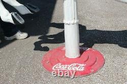 Grand 59 Vintage Coca Cola Sign Base 1 Pièce En Aluminium Moulé Carrousel Cheval
