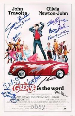 Grease Cast X10 Authentic Hand-signé John Travolta 11x17 Photo