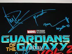 Guardians Of The Galaxy Vol 2 Cast Signé X6 Autographié 12x18 Photo Affiche