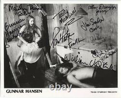 Gunnar Hansen Burns Texas Chainsaw Massacre Cast Signé 8x10 Autographe